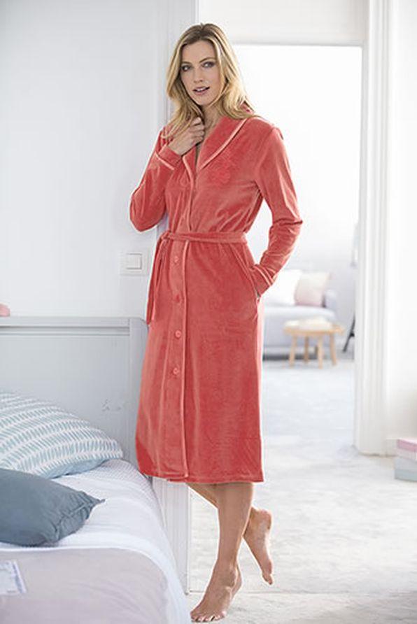 robe de chambre velours et biais satin peignoirs damart belgique. Black Bedroom Furniture Sets. Home Design Ideas