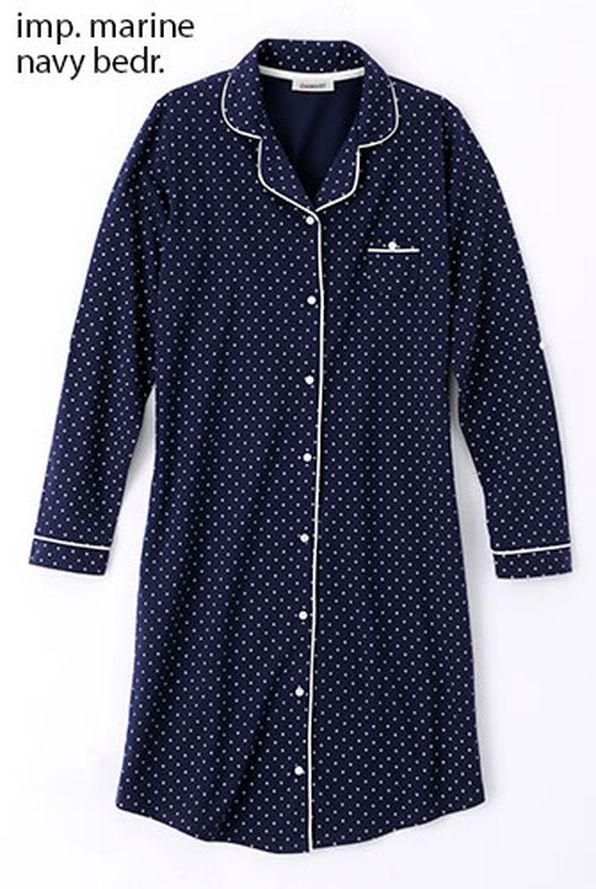 chemise de nuit boutonn e thermolactyl chemises de nuit damart belgique. Black Bedroom Furniture Sets. Home Design Ideas