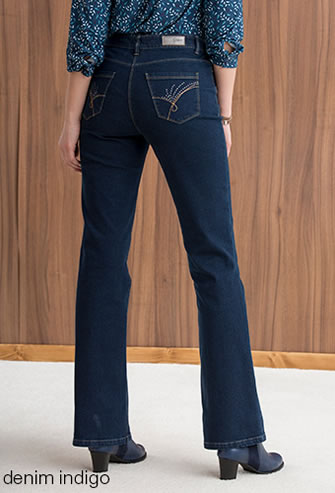 Jean 5 poches «ventre plat» Perfect Fit by Damart® Coupe Bootcut