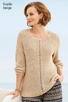 Pull licht linttricot