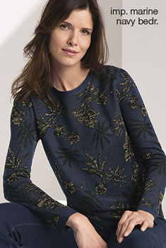 "Pull jacquard  ""tropical"" glanzend"