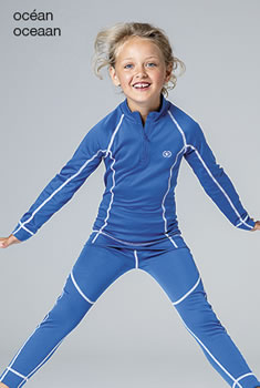 T-shirt enfant col zippé Damart Sport, Easy Body Thermolactyl®