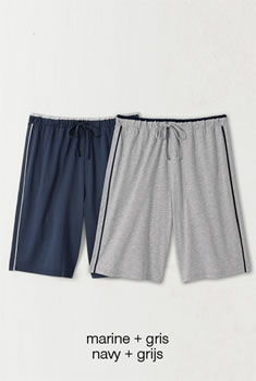 Set van 2 shorts pyjama