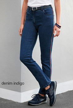 5-pocketjeans slim fit met biesje