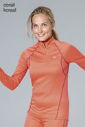 T-shirt dames ritskraag Damart Sport, Easy Body Thermolactyl®