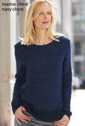 Pull in jacquard, chinétricot, mohair met glanseffect