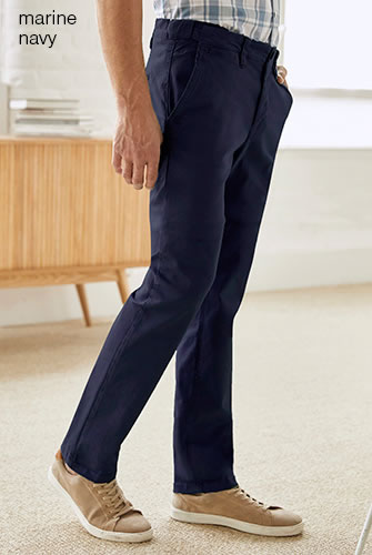 Pantalon 5 poches chino coton stretch