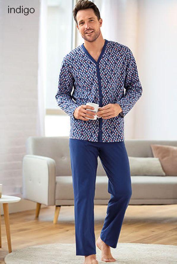 393b42bc6f0 Pyjama met knopen in jerseytricot, zuiver kamkatoen - Pyjama's ...