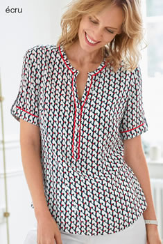 Soepele blouse grafische print