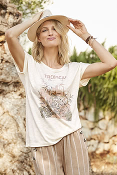 "T-shirt fluide imprimé ""tropical"""