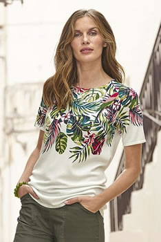 Zachte pull tropical print