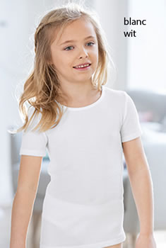 Set van 2 T-shirts kids fijn ribtricot Thermolactyl®
