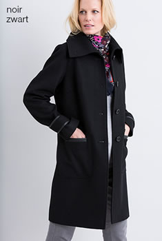 Manteau lainage doublure Thermolactyl®