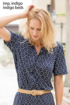 Blouse - Stretchtricot met grafische print